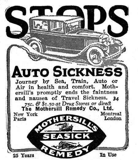 Cures For Sea, Car, And Other Forms Of Motion Sickness