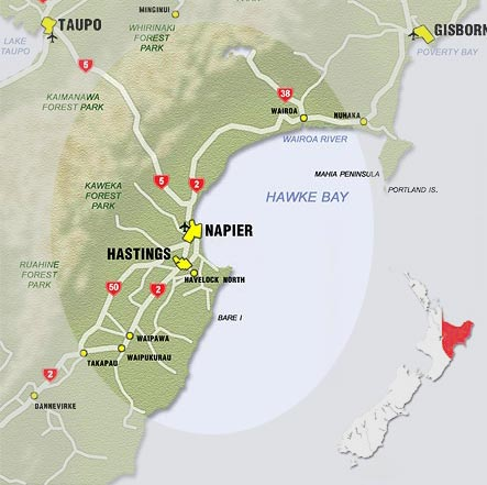 Napier New Zealand Map.What To See And Do In Napier Hastings Hawke S Bay New Zealand