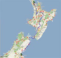 trips driving itineraries north island auckland wellington