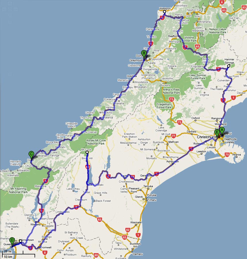 7 day South Island SelfDrive Itineraries