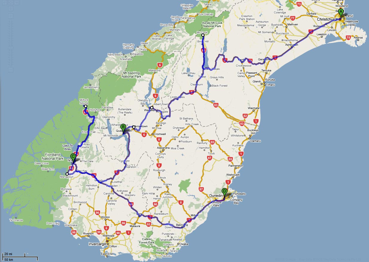 7 Day South Island Self Drive Itineraries